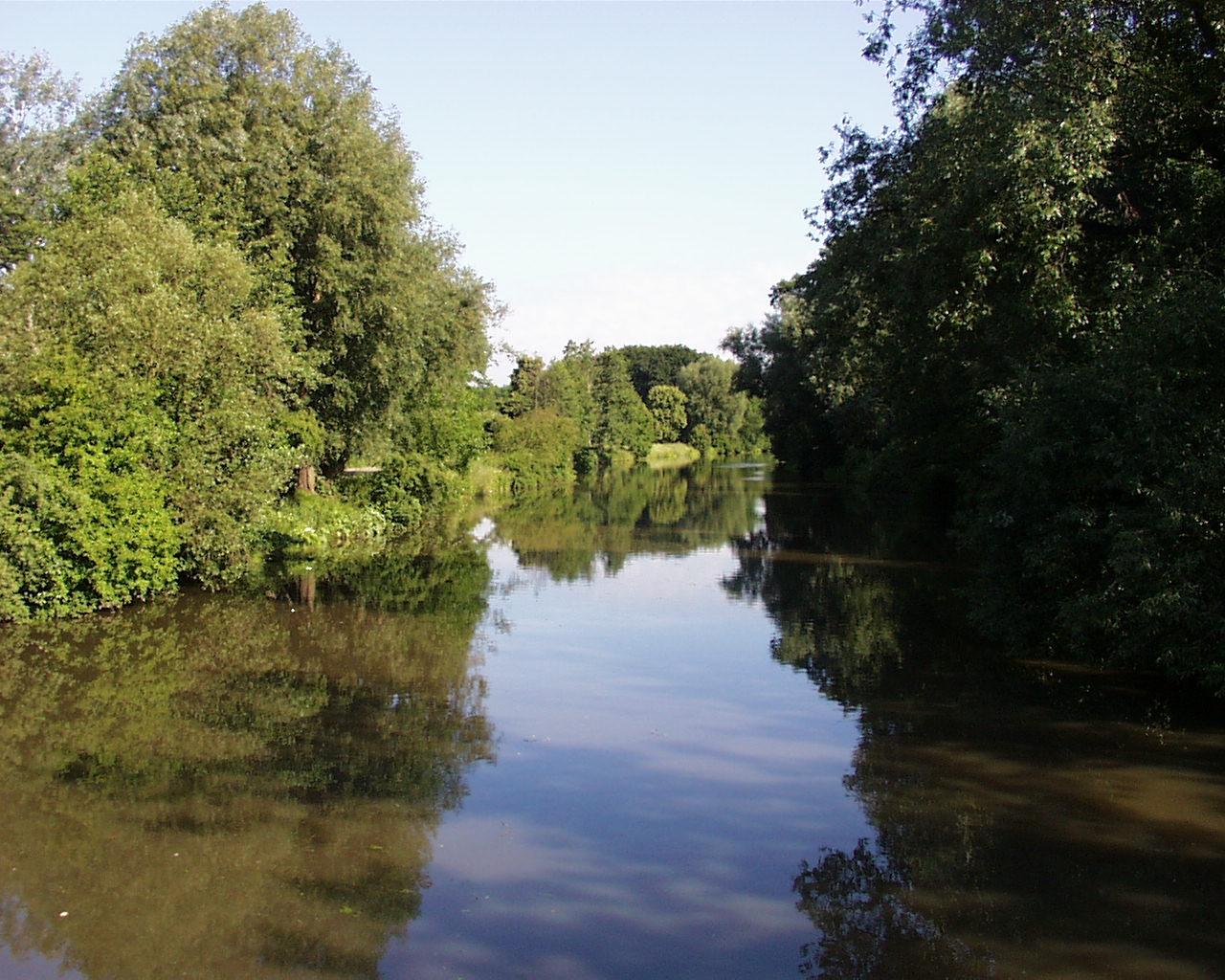 Nidda River Fluss Frankfurt am Main Hessen